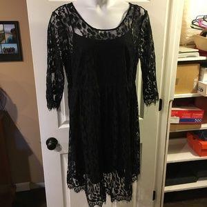 Torrid Black Lace Dress
